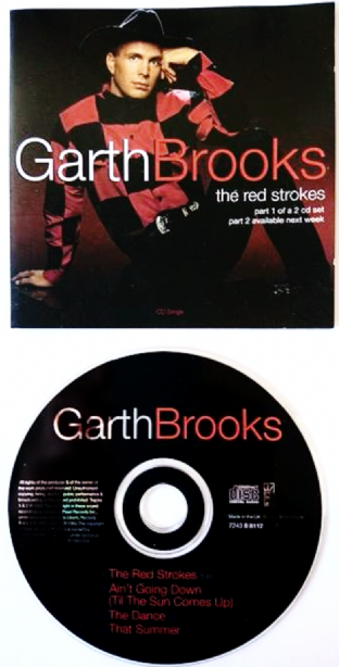 Garth Brooks - The Red Strokes (CD Single Pt 1) (VG/VG)